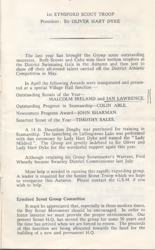 AGM notes 1966