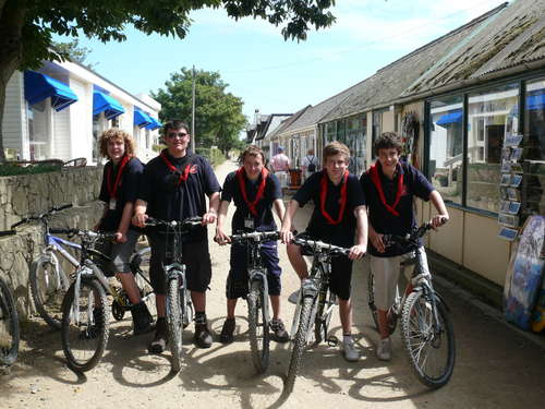 Sark - Explorers hired bikes